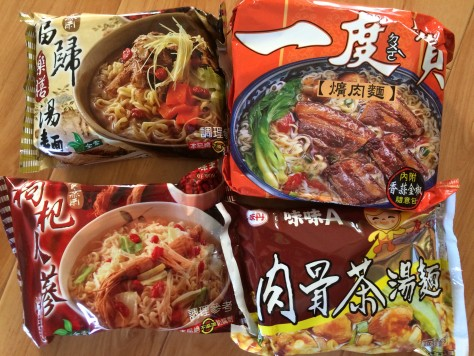 These are local Taiwan instant noodle flavors that would be hard to find in other countries!