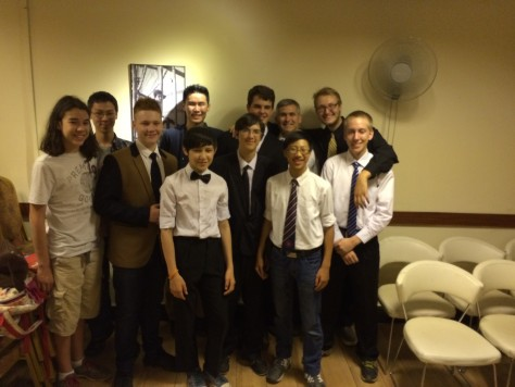 Nathan took photos with his classmates from MSG during the graduation celebration.