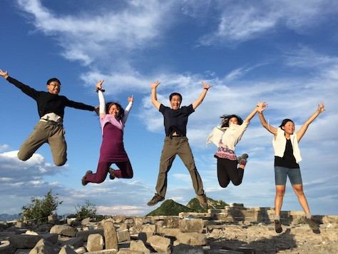 We jumped on top of the Zhengbeilou Watchtower of Jiankou Great Wall.