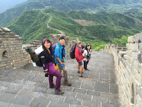 It was fun to hike down the Great Wall in the morning the next day after camping at Jiankou Great Wall.