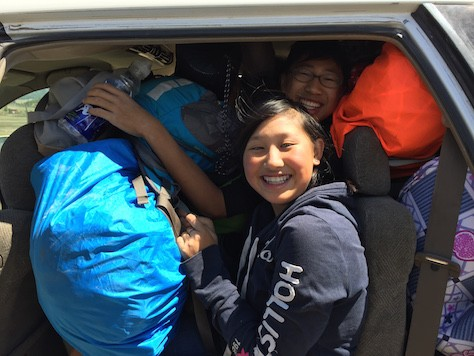 We had to fit 4 people and all our backpacks into the car to get to the ger camp.