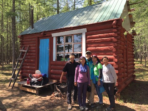 """We lived in a small log cabin in the woods, fulfilling my childhood dream of """"Little House on the Prairie""""."""