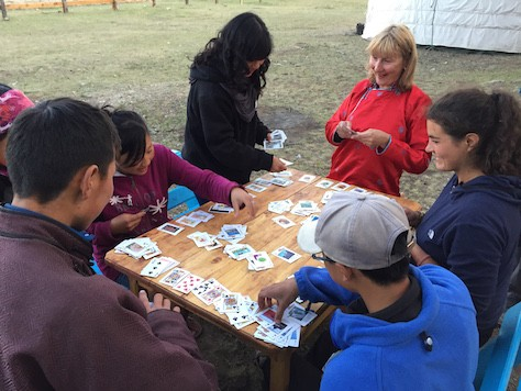 We played cards with a Serbian guests who had great fun.