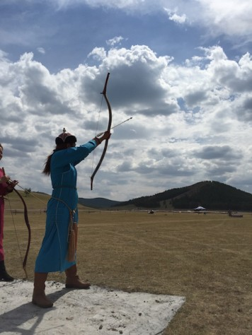 Archery is the only sport where Mongolian girls can also participate.