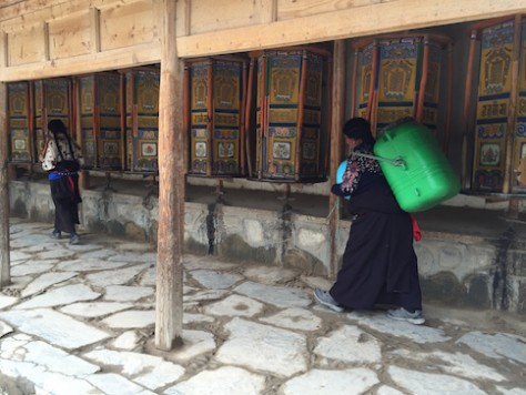 Tibetan walk the 3km inner kora turning the 3000+ prayer wheel along the way regularly to show their devotion.