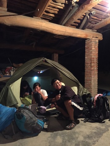 Unlike typical tourist, we camped at the backyard of a hotel for 1/5 of the price in Zhangye, Gansu.