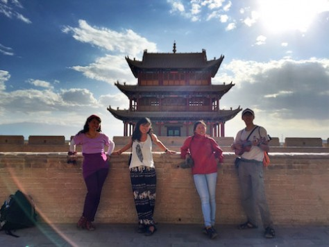 Jiayuguan Gate marks the ancient Chinese border gateway to the western barbarian regions outside of China.