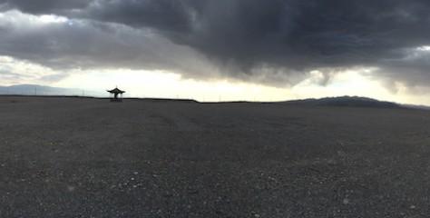 The land westward from the Jiayuguan Gate was a barren wasteland.