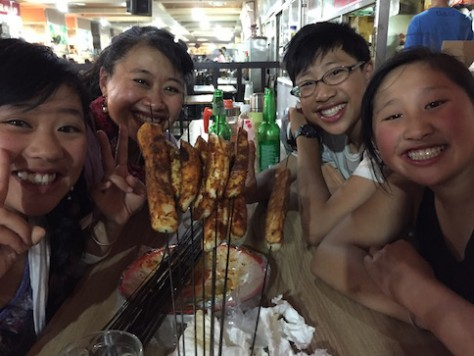 At the Jiayuguan Night Market we were treated to unexpected free food and leftovers from other guests!