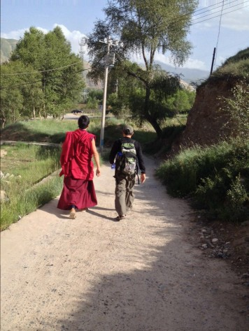 At the 400 year old Gomar Gompa monastery, I had a chance to converse with a Tibetan monk one on one.