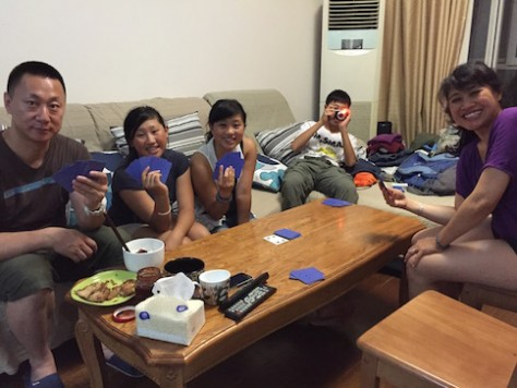 "We taught Uncle Noah how to play the card game ""Mao Mao""!"