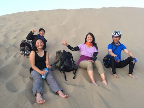 We met a local biker who taught us how to best hike up the sand dune and to go down quickly.