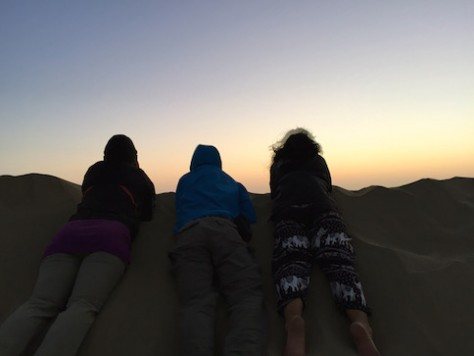 Seeing the sunrise as we woke up on top of the sand dune was magical.