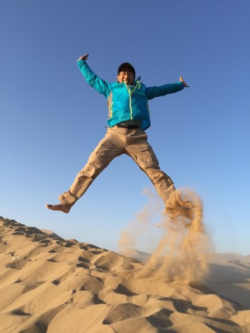 Jumping for joy on my 46th birthday.