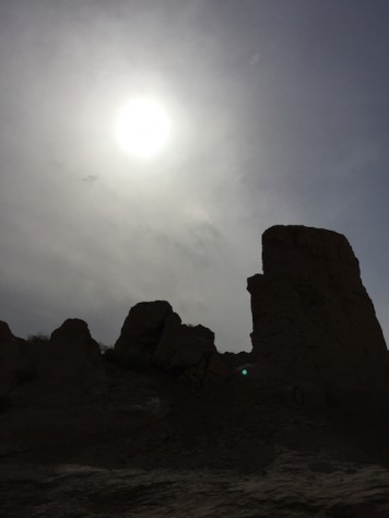 The desert sun was unforgiving at the ruin city of Turpan.