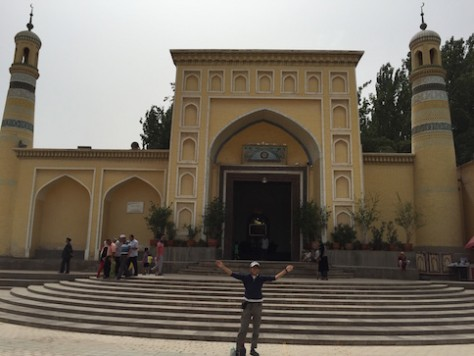 We lived in the old city in Kashgar next to their famous mosque.