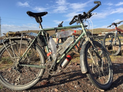 This is the bike used by the New Zealand couple to bike on the Pamir Highway.