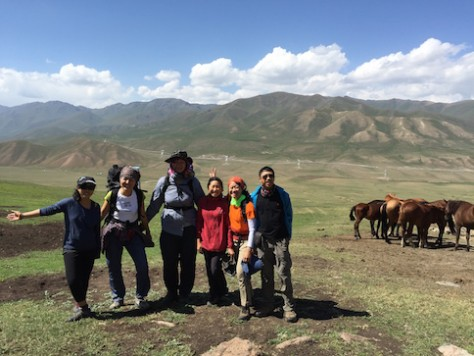 Rahat and Arina taught us a lot about the history and culture of Kyrgyzstan.