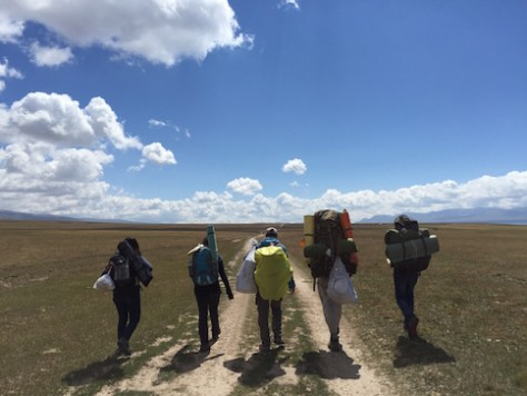 We trekked about 10km per day on our way to the Song Kol Lake.