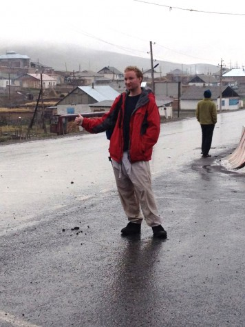 Liam, the Canadian geologist, hitchhiked his way to the border of China.