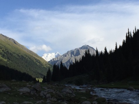 The spectacular view from the Atlyn-Arashan valley.