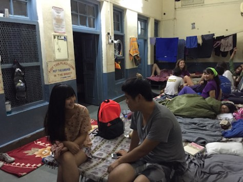 We stayed for free inside the temple at the foreigner dormitory where we met new backpackers every night.