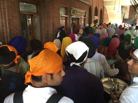 There was a constant stream of people lining up to eat inside the Golden Temple complex.