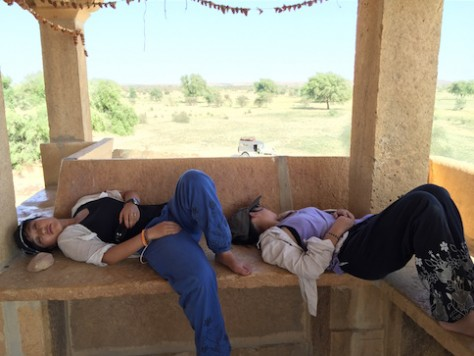 The heat at Jaisalmer desert was suffocating at times.