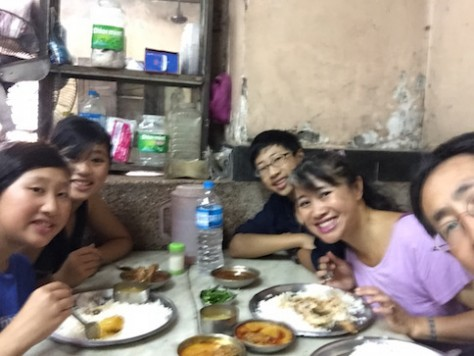 During our last meal in Kolkata, we shared about our experiences volunteering at the Missionaries of Charity.