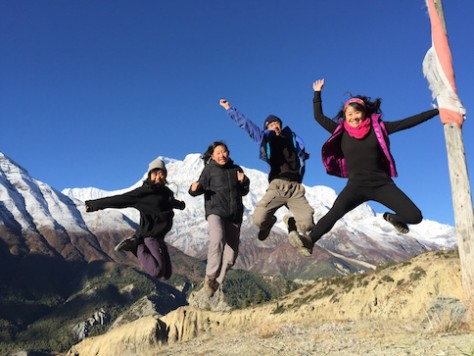We couldn't help to jump for joy seeing the mountain peaks in full view.