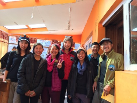 We were shocked to meet the Korean pianist celebrity at 4200 meters in the Himalayas.
