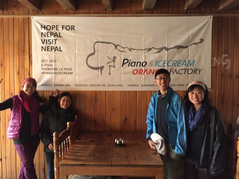 We were fortunately to meet the team that will attempt to play a piano concert at the Throng La Pass at 5416 meters to raise support for Nepal.