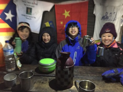 The howling wind and the sub-zero temperature had us quickly scrambled inside the small wooden hut for some hot soup.