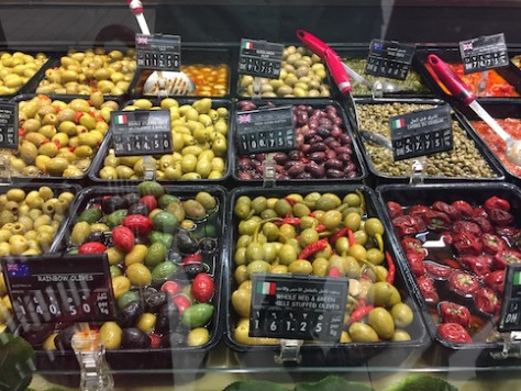 Olives from different parts of the world.