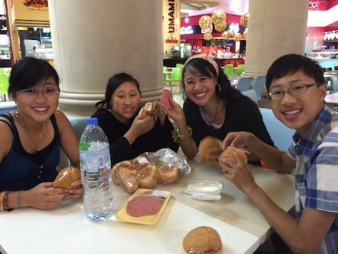 Instead of eating at the food court, we brought lunch food from the supermarket at 1/5 of the cost.