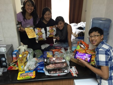 We bought all sorts of food to cook and snacks to enjoy at the supermarket to our apartment to save cost.