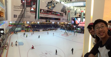 There is an olympic size ice skating ring in the Dubai Mall.