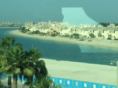 We rode on the monorail to get a panoramic view of the man-made Jumeriah Palm Island which is shaped like a palm tree.