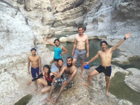 Idrees, our couchsrufing host, took us to the most natural waterpark we had ever been, Wadi Shah.