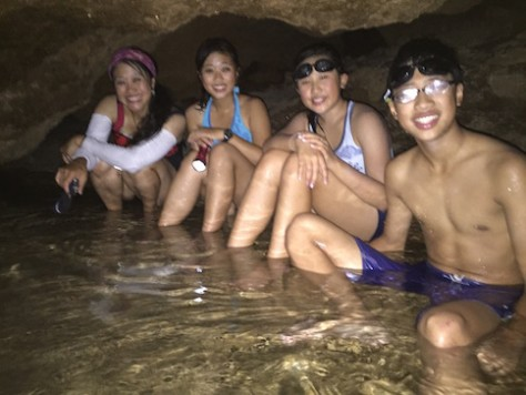 At Wadi Bani, we explored an underground hot springs filled with bats!