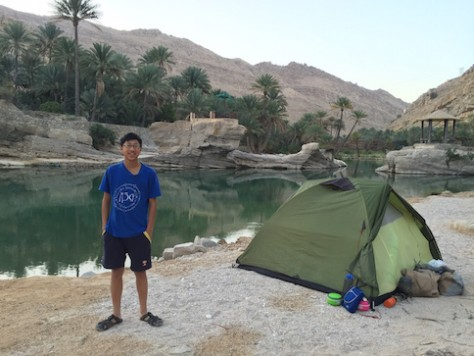 For our second night, we camped along the clear water of Wadi Bani, again we had the whole place to ourselves.