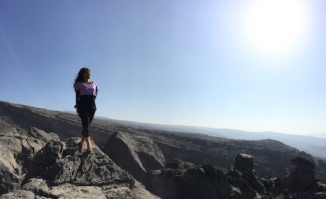 Near the highest mountain of Oman, we got a panoramic view of the valley below.