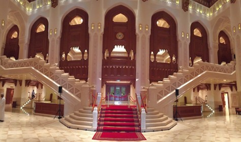 The Royal Opera House in Muscat was constructed with 4 levels of seating.