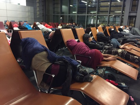 Doha airport provides sleeper chair for travelers to sleep overnight.