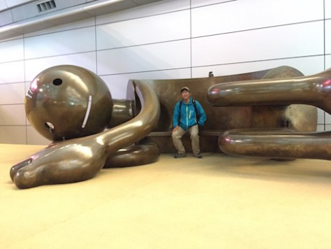 There are many creative playgrounds for children and adults alike at the Doha airport.