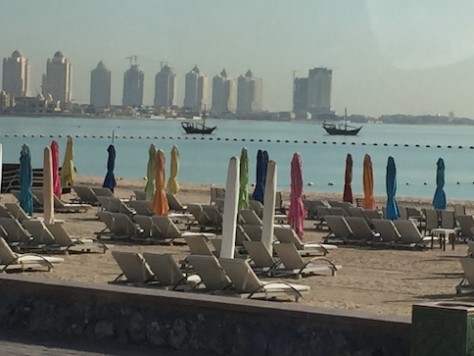 There are only paid beaches in Doha, unlike Oman.