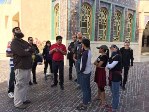 The tour guide was from Nepal who works in Qatar during the off season in Nepal.