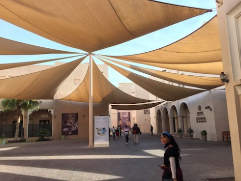 Visiting the international cultural village of Doha.