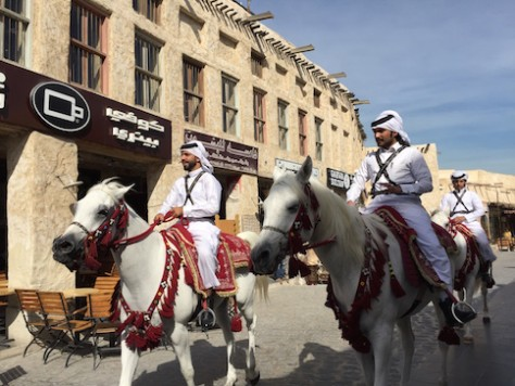 The police of the souq rode on handsome Arabian Horses.