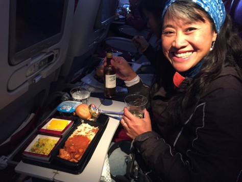 The food and utensils provided by Qatar Airline was one of the best we ever had, all free.
